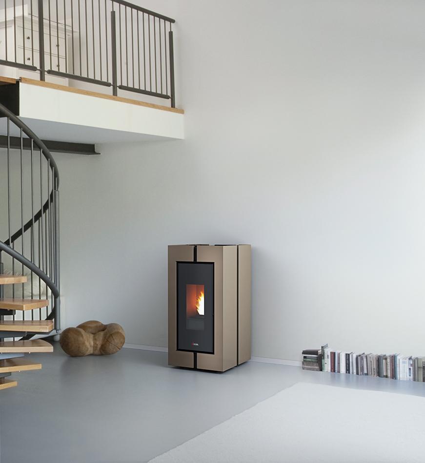 CADEL TECNA³ - Light Bronze Steel in wit interieur